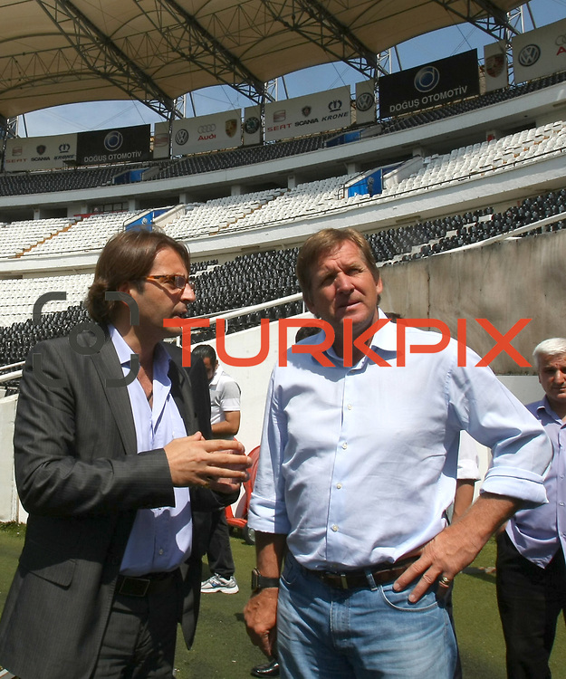 German soccer coach Bernd SCHUSTER (R) has been appointed as the new coach of Turkish giants Besiktas on a two-year contract. Bernd SCHUSTER signed two year contract in Istanbul at Turkey on Wednesday, 16 June, 2010. Photo by TURKPIX