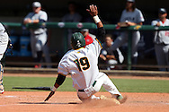28 May 2016: Cal Poly Pomona's Jared James scores the game-winning run. The Cal Poly Pomona Broncos played the Southern Indiana Eagles in Game 2 of the 2016 NCAA Division II College World Series  at Coleman Field at the USA Baseball National Training Complex in Cary, North Carolina. Cal Poly Pomona won the game 2-1 in ten innings.