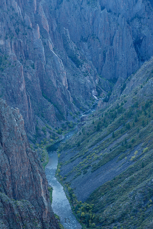 Black Canyon of the Gunnison River National Park in southwestern Colorado.