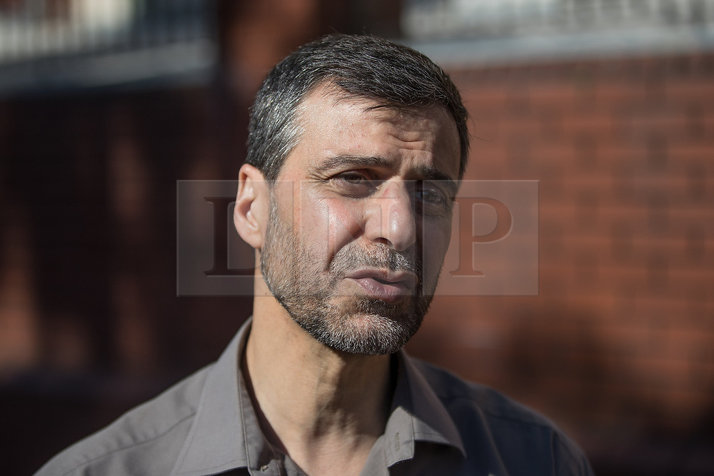© Licensed to London News Pictures. 19/06/2017. London, UK. Chairman of Finsbury Park mosque MOHAMMED KOZBAR . One man is known to be dead and several inured after a hired van was driven in to people on Whadcoat Street in Finsbury Park in North London after late night prayers at a nearby mosque . Photo credit: Joel Goodman/LNP