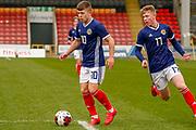 Kai Kennedy (Rangers FC) & Stuart Mckinstry (Motherwell) during the U17 European Championships match between Scotland and Poland at Firhill Stadium, Maryhill, Scotland on 26 March 2019.