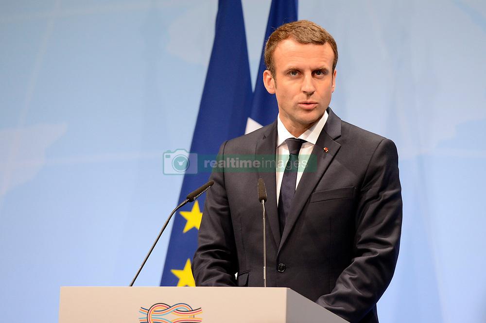 July 8, 2017 - Hamburg, Hamburg, Deutschland - Emmanuel Macron bei einer Pressekonferenz auf dem G20-Gipfel. Hamburg, 08.07.2017 (Credit Image: © Future-Image via ZUMA Press)