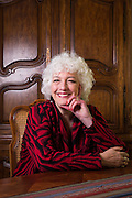 Hon. Dana Leigh Marks poses for a portrait at her home in Mill Valley, California, on October 26, 2014. (Stan Olszewski for the ABA Journal)