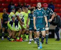 London Irish players look dejected as Sale Sharks celebrate - Mandatory by-line: Matt McNulty/JMP - 15/09/2017 - RUGBY - AJ Bell Stadium - Sale, England - Sale Sharks v London Irish - Aviva Premiership