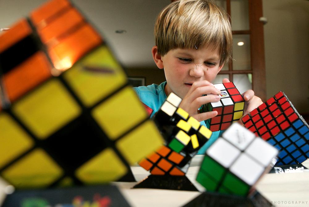 Chris Kellogg, 7, Rubik's Cube solver.SCOTT MORGAN   ROCKFORD REGISTER STAR