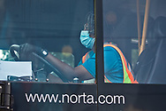 New Olreans bus driver at work on March, 27, 2020 in New Orleans Lousiana, where the COVID-19 Pandemic is a hotspot.