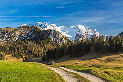 Gaisl Peak high in the Dolomite Mountains in Fanes Sennes Prags Nature Park. This little gem is in the mountain range north of Cortina Italy.
