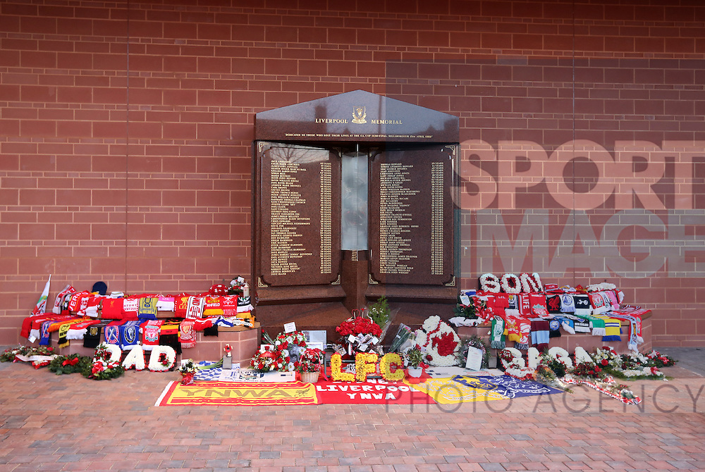 The Hillsborough memorial during the Premier League match at Anfield Stadium, Liverpool. Picture date December 27th, 2016 Pic David Klein/Sportimage