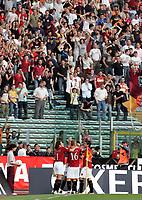 Roma 09/5/2007<br /> Coppa Italia Finale Andata<br /> Roma-Inter<br /> Photo Luca Pagliaricci INSIDE<br /> ESULTANZA DI PANUCCI DOPO IL GOL DEL 6-2 CON GLI ALTRI COMPAGNI