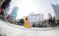 Heeki Park at Shibuya Crossing,Tokyo - Japan