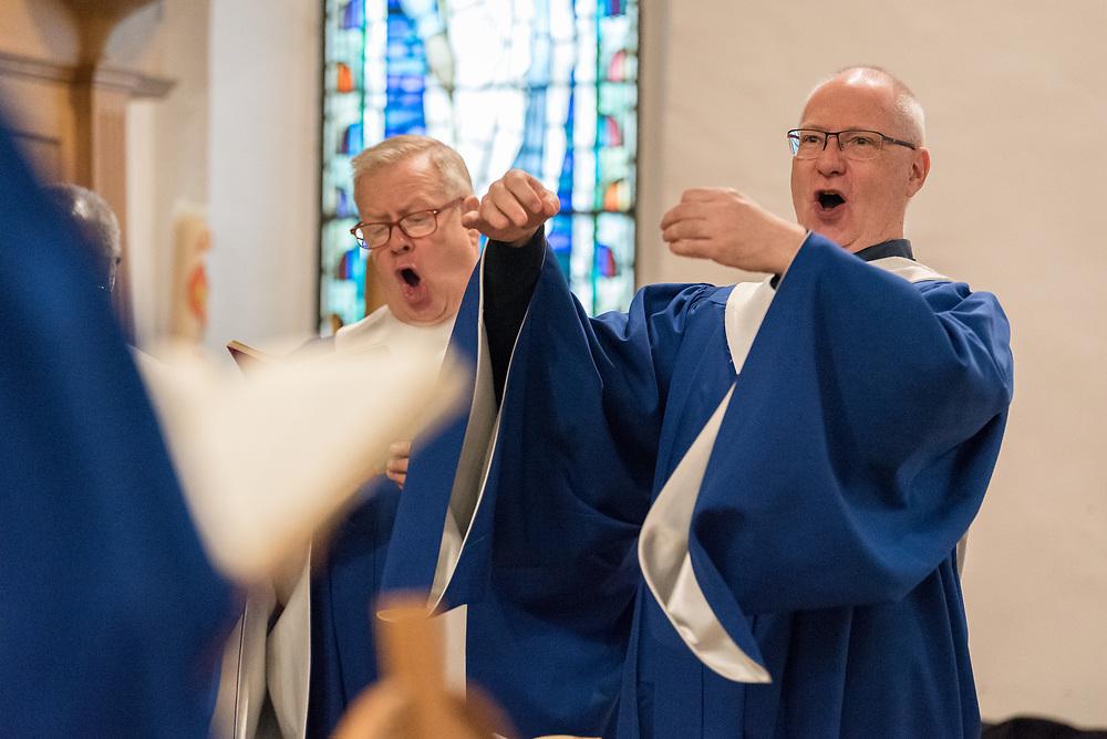 24 November 2019, Geneva, Switzerland: Sunday service at the Emmanuel Episcopal Church, Geneva.