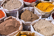 Spices at the Sunday market in Ouarzazate, Morocco.
