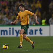 Michael Beauchamp in action during the 2010 Fifa World Cup Asian Qualifying match between Australia and Uzbekistan at Stadium Australia in Sydney, Australia on April 01, 2009. Australia won the match 2-0.  Photo Tim Clayton