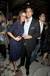 ALICE KODELL and PRINCE LAWRENCE FRANKOPAN at a party to celebrate the launch of Atelier-Mayer.com held at 83 Princedale Road, London W11 on 15th January 2009.
