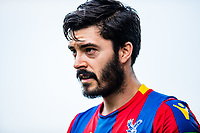 LONDON, ENGLAND - APRIL 14: James Tomkins (5) of Crystal Palace during the Premier League match between Crystal Palace and Brighton and Hove Albion at Selhurst Park on April 14, 2018 in London, England. (Photo by MB Media/Getty Images)