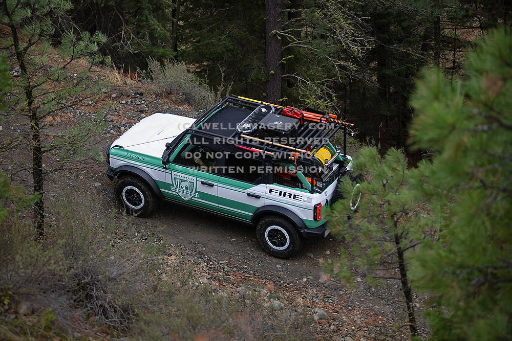 Image of a Ford/Filson Bronco concept vehicle in Washington, Pacific Northwest by Randy Wells