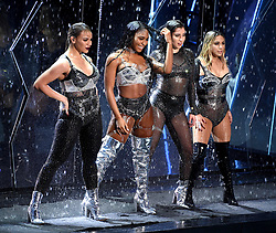 LOS ANGELES - AUGUST 27: (L-R) Dinah Jane, Normani Kordei, Lauren Jauregui, and Ally Brooke of Fifth Harmony performs on the 2017 'MTV Video Music Awards' at The Forum on August 27, 2017 in Los Angeles, California. (Photo by Frank Micelotta/PictureGroup)