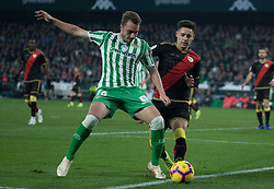 December 9, 2018 - Seville, Andalucía, Spain - Loren, Real Betis, and Embarba, Rayo, fight for the ball during the LaLiga match between Real Betis and Rayo in Benito Villamarín Stadium (Seville) (Credit Image: © Javier MontañO/Pacific Press via ZUMA Wire)