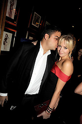 JAMIE RUBEN and MARISSA MONTGOMERY at the Tatler Magazine Little Black Book party at Tramp, 40 Jermyn Street, London SW1 on 5th November 2008.