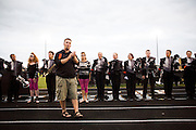 The Oregon Marching Band performs a thank you show for the community in Oregon, Wisconsin on July 1, 2009.