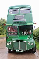 ImberBus Classic bus service across Salisbury Plain using former London Transport Routemaster buses and the New Routemaster Borisbus, Salisbury Plain, Wiltshire UK, 25 August 2014, Photo by Richard Goldschmidt