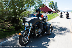 Lawrence Eljay Jaramillo ofCastle Rock, CO on his Tri Glideriding the 20 Mile Road in Steamboat Springs during the Rocky Mountain Regional HOG Rally, Colorado, USA. Saturday June 10, 2017. Photography ©2017 Michael Lichter.