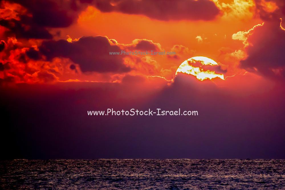 Beautiful Mediterranean Sun Set. Photographed in Israel