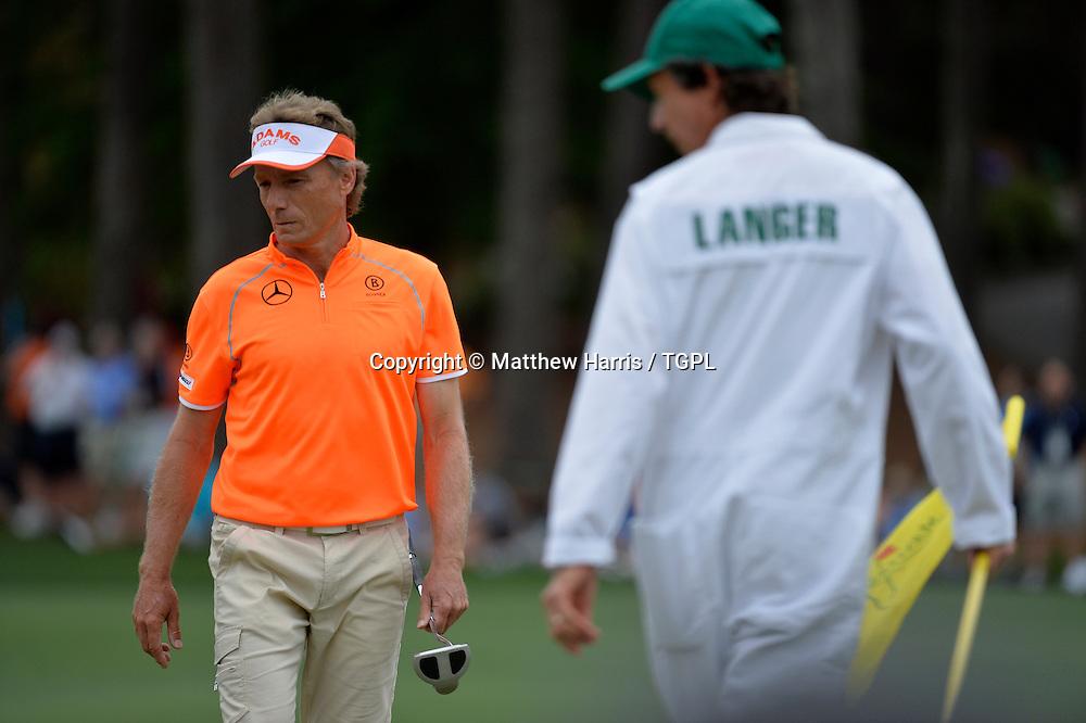 Bernhard LANGER (GER) during fourth round,US Masters 2013,Augusta National,Augusta,Georgia,USA.