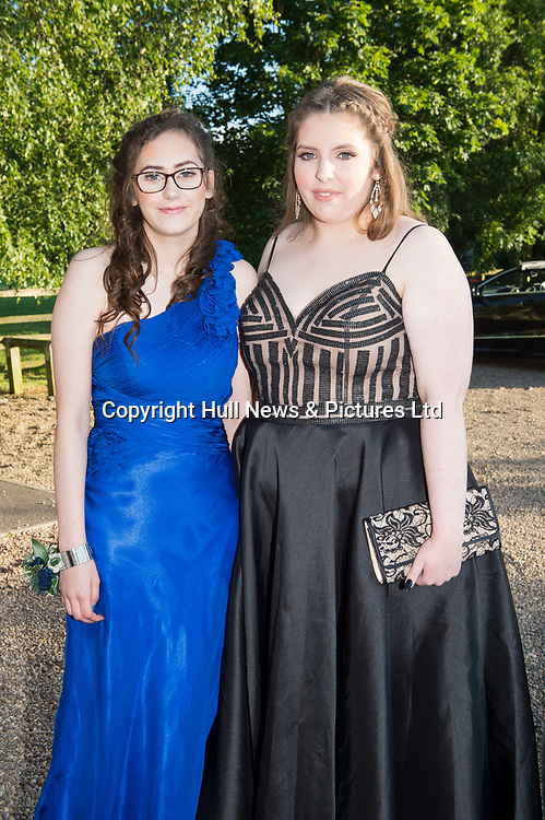 27 June 2019: Somercotes Academy Year 11 prom at the Brackenborough Hotel near Louth.<br /> (l-r) Kelsey Wick and Emily Jarram.<br /> Picture: Sean Spencer/Hull News & Pictures Ltd<br /> 01482 210267/07976 433960<br /> www.hullnews.co.uk         sean@hullnews.co.uk