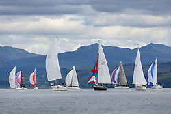 The Silvers Marine Scottish Series 2014, organised by the  Clyde Cruising Club,  celebrates it's 40th anniversary.<br /> Day 1<br /> `fleet in light airs<br /> <br /> Racing on Loch Fyne from 23rd-26th May 2014<br /> <br /> Credit : Marc Turner / PFM