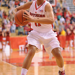 Feb 21, 2009; Piscataway, NJ, USA; Rutgers guard Nikki Speed (11) passes to guard Brittany Ray (not pictured) during the second half of Rutgers' 55-42 victory over Providence at the Louis Brown Athletic Center.