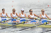 Poznan, POLAND,  GBR W8+, Bow [L to R} Jo COOK, Melanie WILSON, Michelle VEZIE, Natasha PAGE, Kristen STILLER, moving away from the start  in the women's eights, repechage, on the fourth day of the, 2009 FISA World Rowing Championships. held on the Malta Rowing lake,Wednesday  26/08/2009  [Mandatory Credit. Peter Spurrier/Intersport Images]