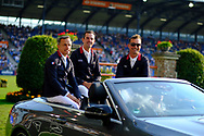 Olivier Robert, Matthieu Billot and Nicolas Delmotte for France during the Nations Cup of the World Equestrian Festival, CHIO of Aachen 2018, on July 13th to 22th, 2018 at Aachen - Aix la Chapelle, Germany - Photo Christophe Bricot / ProSportsImages / DPPI