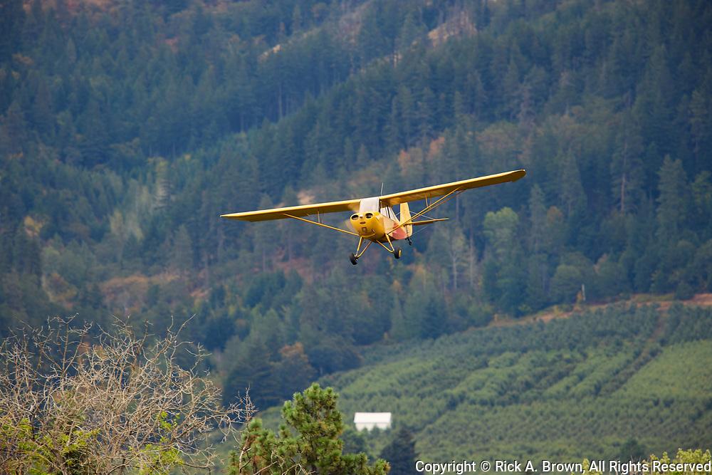 Aeronca Champ arriving at Ken Jernstedt Airfield