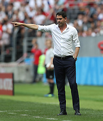MOSCOW, July 1, 2018  Head coach Fernando Hierro of Spain gives instructions to players during the 2018 FIFA World Cup round of 16 match between Spain and Russia in Moscow, Russia, July 1, 2018. (Credit Image: © Cao Can/Xinhua via ZUMA Wire)