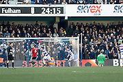 Queens Park Rangers midfielder Ryan Manning (41) scores a goal (score 1-0) during the EFL Sky Bet Championship match between Queens Park Rangers and Fulham at the Loftus Road Stadium, London, England on 21 January 2017. Photo by Andy Walter.