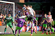 Sheffield Utd forward Scott Hogan (11) scores United second goal 2-1 during the EFL Sky Bet Championship match between Sheffield United and Bristol City at Bramall Lane, Sheffield, England on 30 March 2019.