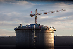 The new Ethane gas tank.<br /> INEOS Rafnes plant, in Norway, as part of an INEOS Media Trip.