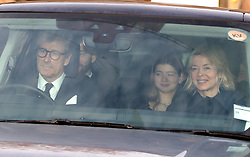 Lady Helen Taylor, her husband Timothy and daughter Estella arrive for the Queen's Christmas lunch at Buckingham Palace, London.