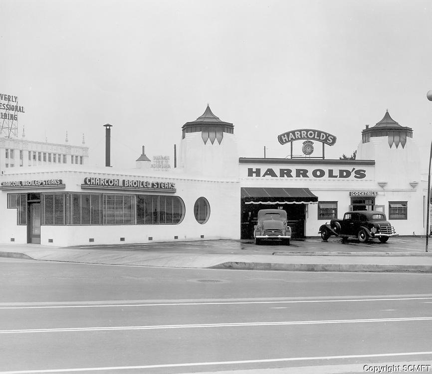 1935 Harrold's Restaurant on Wilshire Blvd. & Bedford