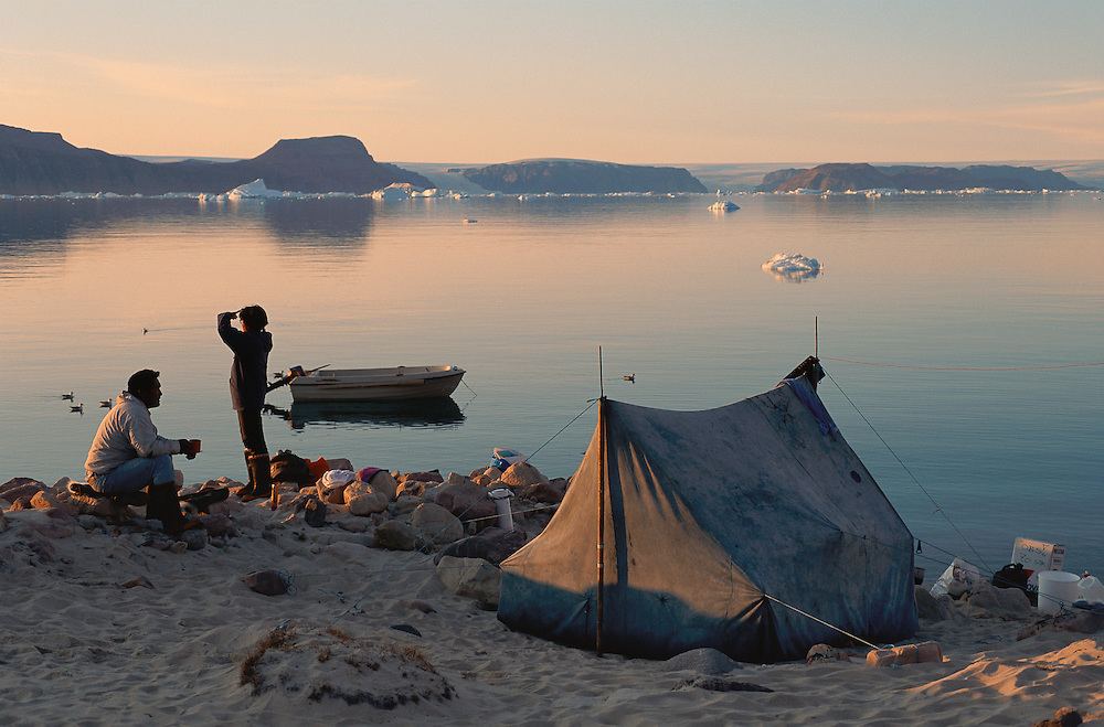 Inuit Narwhal hunting, Qaanaq, North West Greenland