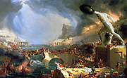 The course of Empire (Destruction of Rome by the Visigoths) painted by Thomas Cole