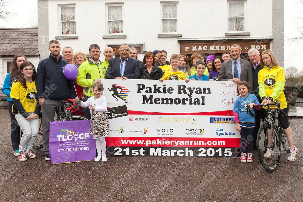 Launch of the Paki Ryan Memorial Run at Macs Pub In Bunratty