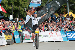01.06.2014, Bullentaele, Albstadt, GER, UCI Mountain Bike World Cup, Cross Country Herren, im Bild 1 Platz Julien Absalon Frankreich // during Mens Cross Country Race of UCI Mountainbike Worldcup at the Bullentaele in Albstadt, Germany on 2014/06/01. EXPA Pictures © 2014, PhotoCredit: EXPA/ Eibner-Pressefoto/ Langer<br /> <br /> *****ATTENTION - OUT of GER*****