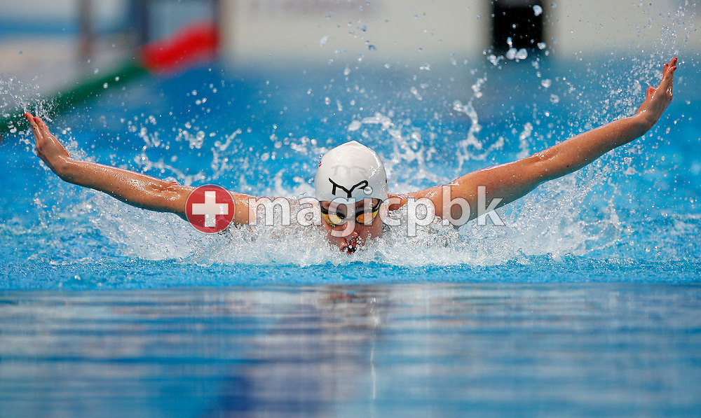 Danielle VILLARS of Switzerland competes in the women's 100m Butterfly Heats during the 16th FINA World Swimming Championships held at the Kazan arena in Kazan, Russia, Sunday, Aug. 2, 2015. (Photo by Patrick B. Kraemer / MAGICPBK)