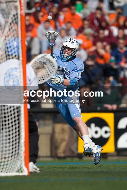 29 March 2008: North Carolina Tar Heels midfielder Nick Tintle (23) during a 13-8 win over the Johns Hopkins Blue Jays on Homewood Field in Baltimore, MD.