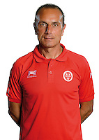 Michel Der Zakarian coach of Reims during the photocall of Reims for new season of Ligue 2 on September 29th 2016 in Reims<br /> Photo : Stade de Reims / Icon Sport