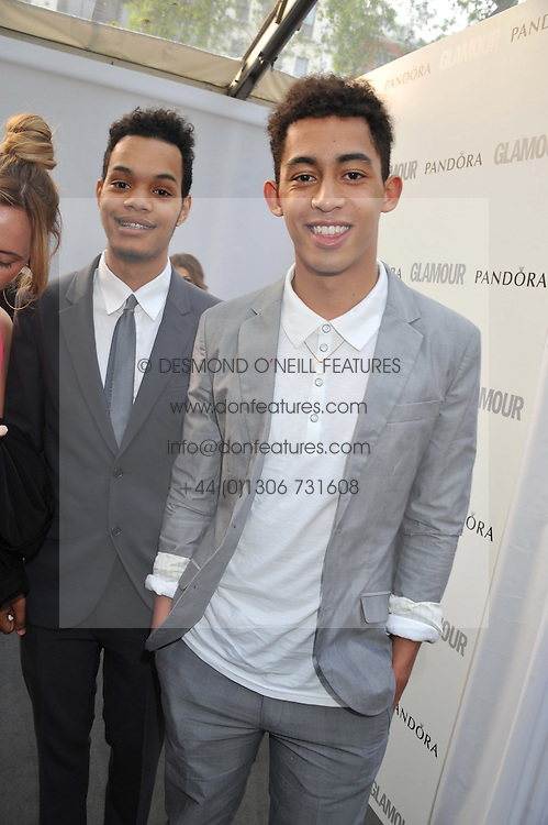 Left to right, HARLEY ALEXANDER-SULE and JORDAN STEPHENS of Rizzle Kicks at the Glamour Women of the Year Awards 2012 in association with Pandora held in Berkeley Square Gardens, London W1 on 29th May 2012.