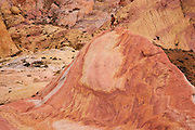 A hiker in the Valley of Fire State Park, about a hour from Las Vegas, Nevada.  (model released)