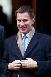© Licensed to London News Pictures. 22/11/2016. London, UK. Health Secretary JEREMY HUNT leaves Downing Street on Tuesday, 22 November 2016. Photo credit: Tolga Akmen/LNP